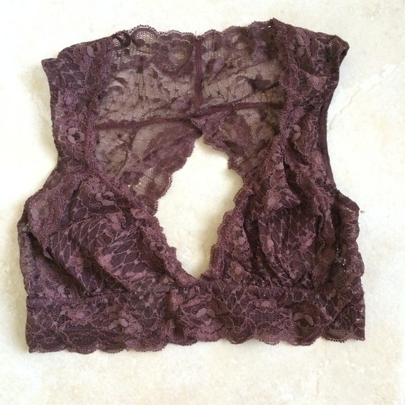 Free People Other - Free People maroon lace bralette